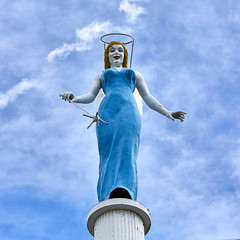 Blue Angel (joeqc) Tags: vegas las lasvegas fremont street blue angel canon t3i efs1855f3556isii square