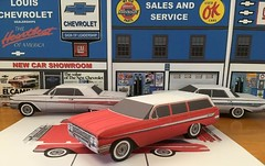Papercraft  1961 Chevrolet Nomad  station wagon (official inspection station) Tags: chrysler chevrolet corvair impala newport goodfellas moviecar papercraft papercar papertoy