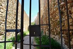 Path with Iron Gate (Piedmont Fossil) Tags: malaga spain alcazaba fortress palace key hole bars gate