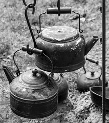 Tea for Two (Jim Frazier) Tags: 2019 2019090708cantignyrevwar 2019cantigny bw american antique balance bandshellarea blackandwhite blurredbackround boiling camp campfire camping cantigny cantignypark classic cooking desaturated detail dupage dupagecounty encampment fall heritage historic historical history il illinois iron jimfraziercom kettles kitchen loadcode201909 metal military monochrome northwestterritoryalliance nwta old parks people q3 reenacting reenactment reenactments reenactors revolution revolutionarywar ruleofthirds september sizeover1000 soldier steel study summer sunny tea teakettle tools uniform utensils vintage war warfare warrior wheaton f10 fastpictures