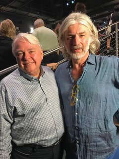 Dennis Scholl, Oolite Arts President and CEO, with artist Mark Handforth at the Little Haiti Cultural Complex for the Talks program with Olga Viso