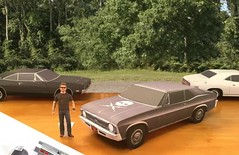 Papercraft Death Proof movie 1969 Nova (official inspection station) Tags: chrysler chevrolet corvair impala newport goodfellas moviecar papercraft papercar papertoy