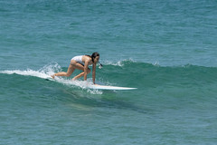 DSC02480 (slackest2) Tags: surfing surfboard surfer sea ocean waves water swell queensland coast longboard mal girlie girl coloundra