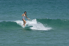 DSC02481 (slackest2) Tags: surfing surfboard surfer sea ocean waves water swell queensland coast longboard mal girlie girl coloundra