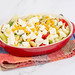 Traditional Salad with Tomatoes Paprika Corn and Cheese