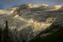 #4334 sun on the mountain (Rmonty119) Tags: canon eosr travel canada lightroom skylum mountain canmore sunlight light texture