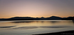 Reflections (Rollingstone1) Tags: lochlomond scotland mountains hills water sky reflections shore shoreline glow nature natural colour twilight vivid landscape art artwork