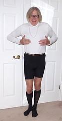 Donna in her turtleneck - 2 (donnacd) Tags: legs feet heels toes sissy tgirl tgurl slut dressing crossdress crossdresser cd travesti transgenre xdresser crossdressing feminization tranny tv ts feminized jumpsuit domina blouse satin lingerie touchy feely he she look 易装癖 シー clit