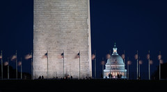 Capital Dome Peeking Out From Behind the Washington Monument (John Brighenti) Tags: flickr washington dc districtofcolumbia outside outdoors city urban town capital nationalmall downtown monument building architecture marble sony a7rii ilce7rm2 telephoto lens minolta rokkor 200mm prime vintage old manual