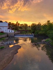 Stormy Sunset at the Old Mill (RiverView82) Tags: wagamanmill storm sunset water old mill