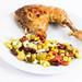 Grilled Chicken Drumstick with Vegetable salad