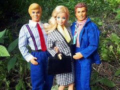 "Barbie & Ken Cool Career ""Business Woman"" #5789 & ""Business Man"" #2949 from 1991 & ""Business Man"" #866 from 1992 (VintageZealot) Tags: barbie mattel ken cool career business man wedding day 9609 9852 2949 1990 1991 1990s 90s vintage retro fashion doll clothing clothes outfit model modelling malaysia caucasian white blonde tan tanned superstar super star velcro alan 9607 866 1992 allan brunet daytonight to night 1984 1980s 80s 7929 woman taiwan suit jacket coat blazer skirt scarf shirt top dress trousers tie briefcase suitcase pants pumps shoes loafers oxfords houndstooth blue black peach red pinstripe suspenders"