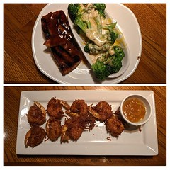 Had some good bbq bacon salmon & Coconut shrimp @outback #outbacksteakhouse #tocohills #atlanta (skl_mobile) Tags: had some good bbq bacon salmon coconut shrimp outback outbacksteakhouse tocohills atlanta