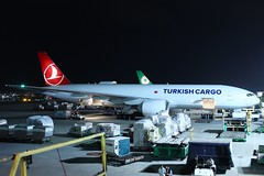 Turkish Cargo B777-200F TC-LJO at TPE/RCTP (Jaws300) Tags: electric general generalelectric ge90 ge canon canon5d eos rctp tpe eva evaair evaaircargo tcljo cargostand cargoapron remotestand remoteapron parked parking terminal stand apron ramp night b772f b772 b777f b777 b777200 b777200f boeing turkishcargo turkishairlinescargo turkish turkey freightdog freighter freight cargo airline airways airport air taoyuanairport taoyuan taipeitaoyuan taiwan taipei taipeitaoyuaninternationalairport airlines