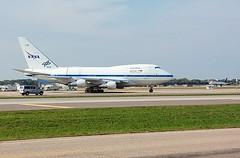 SOFIA: Boeing 747SP-21 N747NA, MSP, 20Sep'19 (jemarkah) Tags: 747sp 747sp21 boeing boeing747sp n747na sofia nasa dlr germanaerospacecenter airplane airliner jetliner stratosphericobservatoryforinfraredastronomy observatory telescope msp boeing747