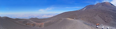 Sicile Etna (henrynobru) Tags: mountain landscape nature sky hill panoramic desert outdoors mountainrange wilderness sand slope volcano plateau geology valley cloud mountainouslandforms outdoor scenery ridge snow man travel highland soil riding panorama skiing