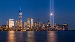 Tribute in light (Martijn_68) Tags: nyc newyork skyline tributeinlight manhattan