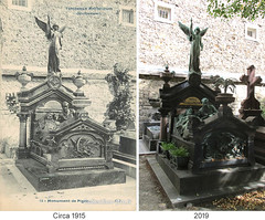 Things I see while riding my bike around Paris 898 (Rick Tulka) Tags: paris cimetièredumontparnasse montparnassecemetery sculpture grave charlespigeon