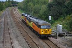 The Odd Couple.... (marcus.45111) Tags: colasrail treeton exbritishrail flickr ukrailways diesel train 56302 70803 2019
