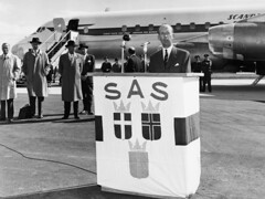 Gardemoen Airport OSL (SAS Museum - Norway - Images not to be used withou) Tags: sas airports osloosl dc8 inaugurals 1960s aircraft oslo norway