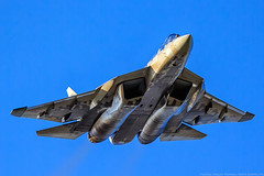 Su-57 (T-50, PAK FA) (RealHokum) Tags: russianairforce airshow aircraft airplane aviasalon aviation zhukovski ef200400 sukhoi su57 t50 t504 maks2019 fighter