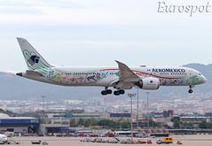 XA-ADL Boeing 787 Aeromexico (@Eurospot) Tags: xaadl boeing 787 7879 aeromexico barcelona lebl
