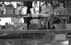 Wishes (odeleapple) Tags: nikon f2 nikkor 50mm f18 yellowfilter kodaktmax400 film monochrome analog bw wish ema temple tablet