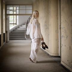 Tanja (juergenberlin) Tags: dessous lingerie lostplace beauty sexy woman girl blond barfeet
