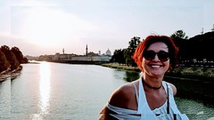 P o i n t (Ladyhelen_) Tags: toscana italy sun river helen firenze words music poetry verses poem poemofmysoul portrait smile luck happiness woman lady donna sorriso light arno ponte bridge city ladyinthecity elegance style colors fashionlover beautylover myeyes walker trip sunbeam whitedress fiume
