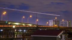 Coming In Hot (Clayton Perry Photoworks) Tags: vancouver bc canada summer explorebc explorecanada skyline richmond night lights airplane airport yvr