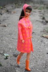 TNT Barbie is enjoying rainy day (Lumelilled) Tags: barbie doll old olddoll vintage vintagedoll mattel drizzledash mod tnt tntbarbie
