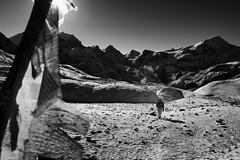 The Martian (durlavrchowdhurynasa) Tags: mountain nepal black white nature climbing hiking prayerflags himalayas man trekking annapurnacircuit thoranglapass annapurna martian mars otherplanet sports adventure travel humanelement joy suffering ngc