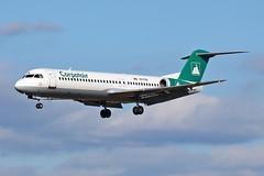 Fokker F-100 - YR-FKB - HAJ - 20.09.2019(1) (Matthias Schichta) Tags: haj eddv hannoverlangenhagen planespotting flugzeugbilder yrfkb carpartair fokker f100