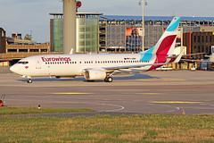 Boeing 737-86J8WL) - D-ABMV - HAJ - 20.09.2019(2) (Matthias Schichta) Tags: haj eddv hannoverlangenhagen planespotting flugzeugbilder eurowings boeing b737800 dabmv