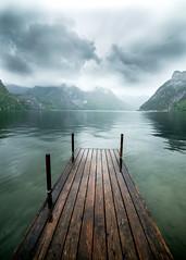 Traunsee under the rain (Alex&HisNikon) Tags: traunsee austria spring rain pier samyang14mm samyang