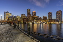 Home Port. (Element1983) Tags: boston batis18mm batis bostonma water color sunset sonya7ii sea harbor stone chain peir city night citynight citylights lights windows bluehour 18mm prime primelens