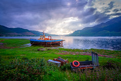 Riverboat (dannygreyton) Tags: scotland lake landscape landscapephotography mountains clouds boat sea ocean cloudy fujifilmxt2 fujifilm fujinon1024mm europe highlands fishing
