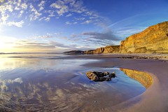 Time is running out (pauldunn52) Tags: beach traeth mawr glamorgan heritage coast wales cliffs reflection
