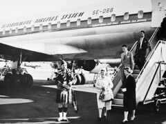 Prestwick Airport (SAS Museum - Norway - Images not to be used withou) Tags: airports sas groundservices dc8 prestwickpik 1960s aircraft prestwick southayrshire unitedkingdom