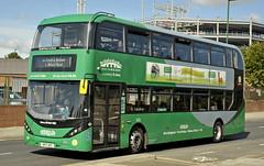 YP17UFC Nottingham City Transport 403 (martin 65) Tags: nottingham nottinghamshire road transport public e400 enviro enviro400 city scania biogas buses bus vehicle orange green navy sky blue