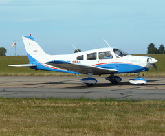 G-SEJW taxiing along TWY Delta (Ibirdball) Tags: egsh nwi norwich piper pa28161 warriorii