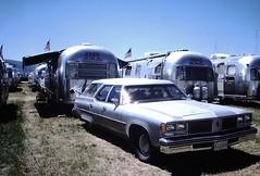Found Photo - Oldsmobile Custom Cruiser & Airstream Trailers (Mark 2400) Tags: found photo oldsmobile custom cruiser airstream trailer