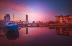 sunset - Huawei Mate 20 Pro (Dhina A) Tags: huawei mate 20 pro mobile phone lyal29 active dual sim belfast sunset bridge water river lagan