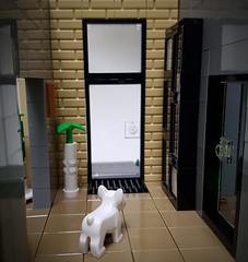 Artsand House MOC. Waiting dog. (betweenbrickwalls) Tags: lego afol moc dogs home living