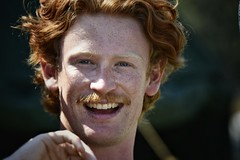 harry (gro57074@bigpond.net.au) Tags: happy smile sydney stives september2019 f50 70200mmf28 nikkor d850 nikon color colour candideyecontact portrait face redhair harry man eyecontact candid