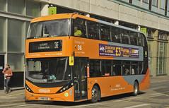 YN18SXB Nottingham City Transport 443 (martin 65) Tags: nottingham nottinghamshire road transport public e400 enviro enviro400 city scania biogas buses bus vehicle orange green navy sky blue