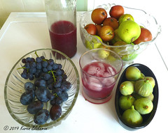 Fruit from the garden (karenblakeman) Tags: cavershamgarden caversham uk fruit apples grapes damsons figs grapejuice frutaria smileonsaturday reading berkshire september 2019