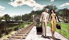 Nostalgia (Luca Arturo Ferrarin) Tags: secondlife couple sentiment nostalgia love lovely trip travel japan kiss camera summer hinansho