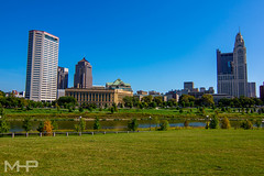 DSC00125-HDR.jpg (rcpromike) Tags: autumn sonya65 skyscraper sciotoriver sonyalpha river scioto riverfront columbus sony aep ohio fall park downtown