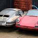 Abandoned Porsche cars at Hatfield Broad Oak Essex England 02